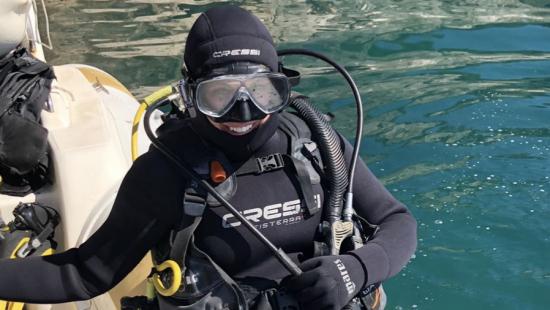 Certified for scuba!